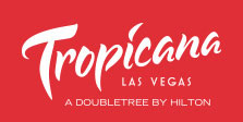 Tropicana name in white on a red background